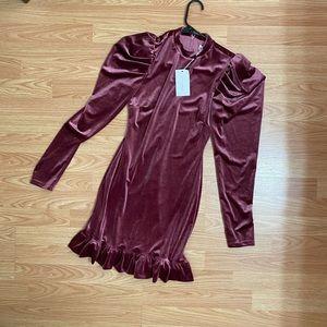 Lovers and friends purple velvet dress